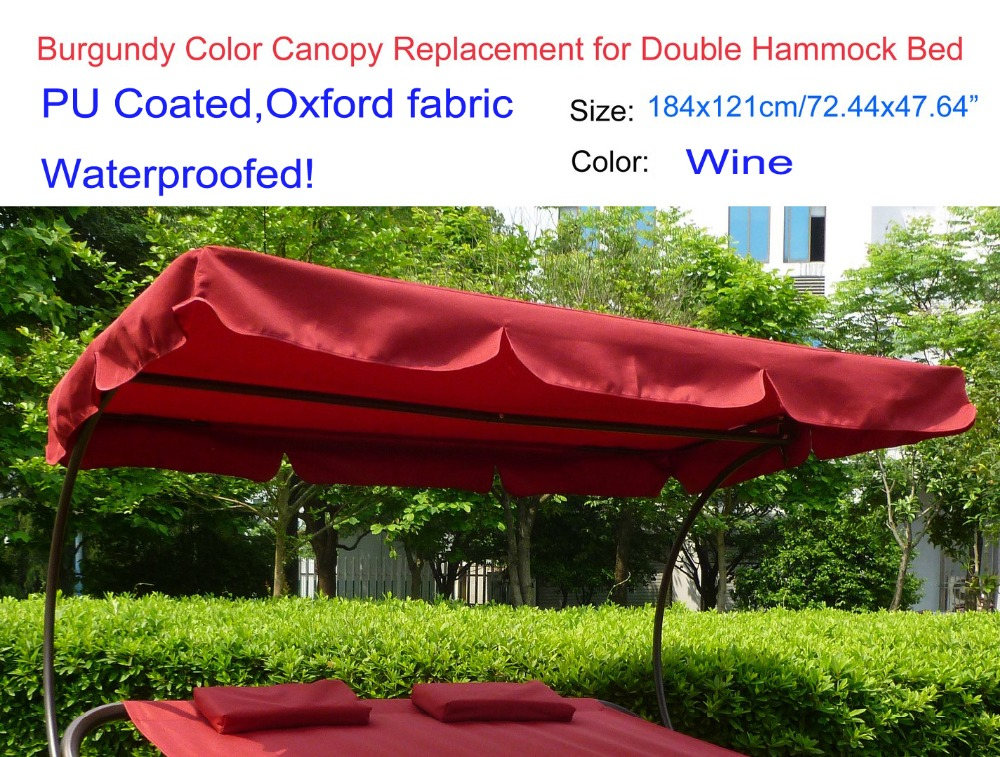 Canopy replacement 184x121cm/72.44x47.64 2 seater Hammock canopywaterproofed canopy replacementWine color-in Shade Sails u0026 Nets from Home u0026 Garden on ... & Canopy replacement 184x121cm/72.44x47.64