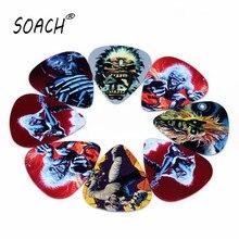 SOACH 10pcs Newest Guitar Picks  ukulele bass guitarra paddle Thickness 0.71mm Musical instruments pick Iron Maiden