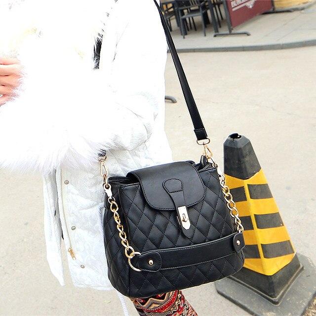 Новая мода осень и зима плед ведро мешок одно плечо кросс-тело сумки с цепи, женщины сумка почтальона сумочки, женщины кошелек