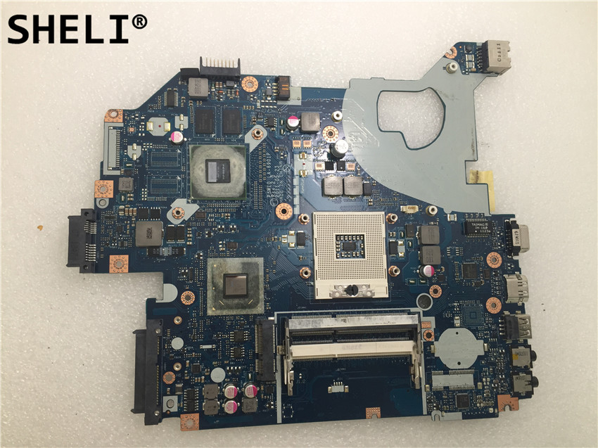 SHELI For ACER 5750 5750G 5755 Laptop Motherboard NOTEbook Pc Mainboard Main Board P5WE0 LA-6901P REV 2.0 GT520M 1GB 100% Tested