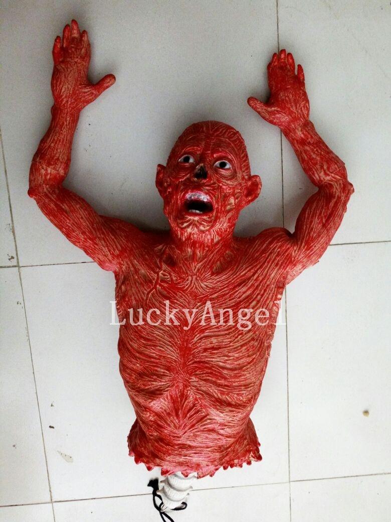 hot 2016 halloween mask cosplay haunted house props scary red dead body halloween horror broken body - Zombie Props
