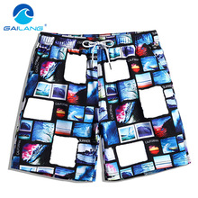 Gailang Brand Beach Board Shorts Quick Drying Men Short Bottoms Bermuda Custom