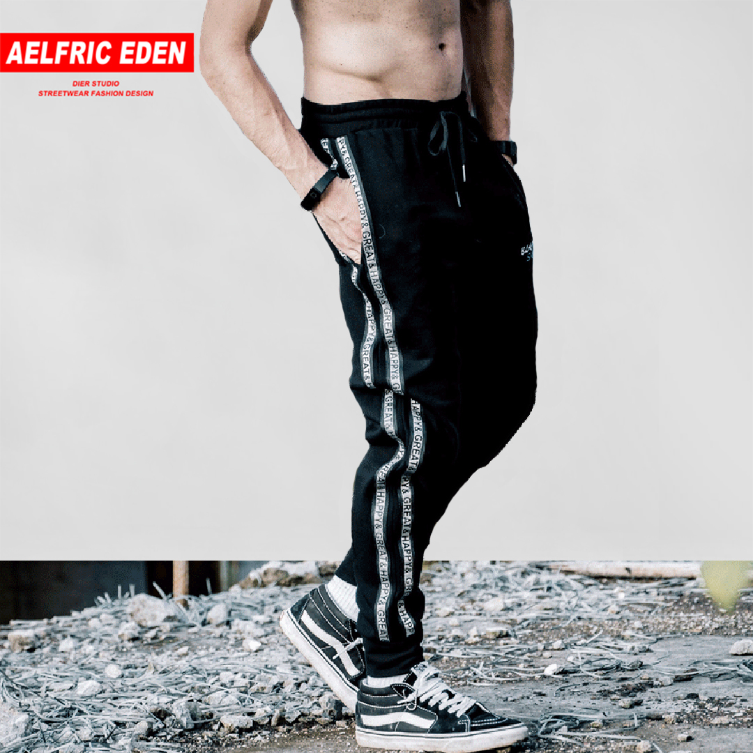 Aelfric Eden 2018 Fashion Joggers Side Stripe Mens Sweatpants Hip Hop Casual Track Pants Joggers Trousers Male Streetwear Kj206 Moderate Price