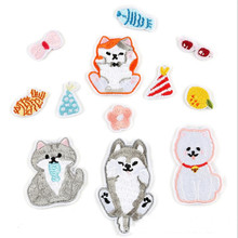 DOUBLEHEE Children Cartoon Small Animal Patches Embroidered Iron On Patch For Clothing Sticker Paste Clothes Bag Pants