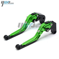 High quality CNC Adjustable Extendable Brake Clutch Levers For Kawasaki ZZR/ZX1400 S Version 2016 2017 monster energy