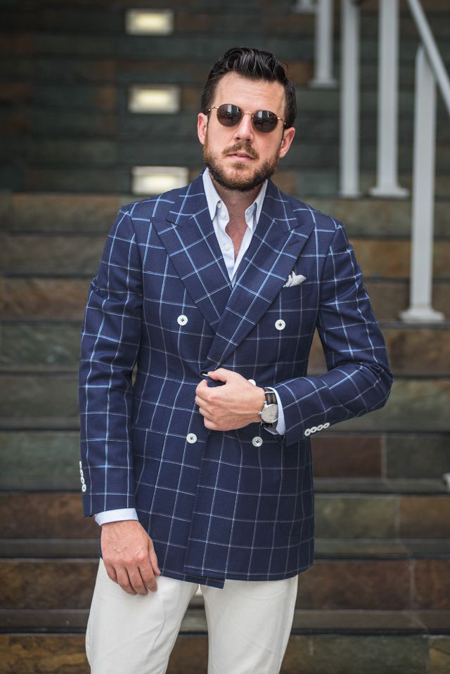 Online Buy Wholesale windowpane suit from China windowpane suit
