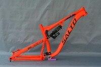 2017 SALTO Orange MTB Alloy Frame Full Suspension Mountain Bike Frames Rear Shock Downwill Frame 27.5ER Drum Shaft 142*12mm