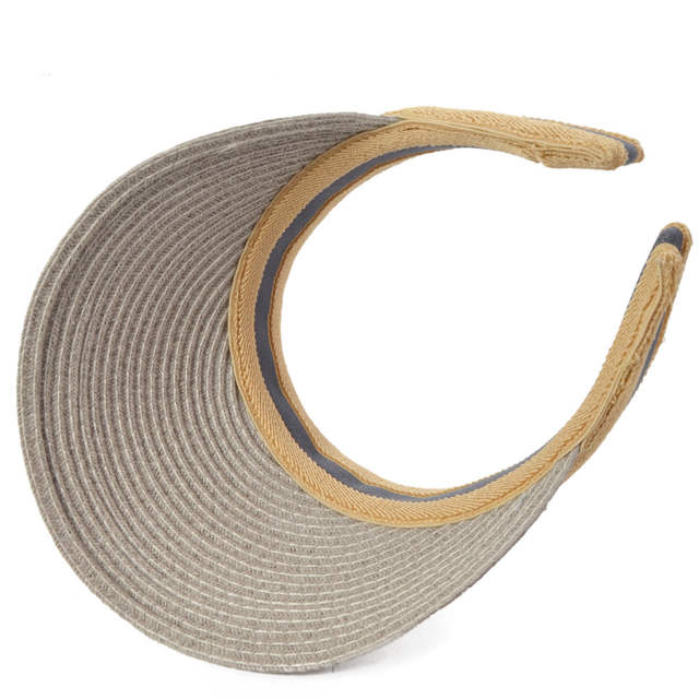 bf6f7225a7544 HISSHE Sun Shade Straw Visor Golf Hat New Arrivals Fashion Empty Top Hat  Sun Hats Solar