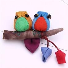 bird brooch lapel pin men jewelry cute pins brooches for women handmade cotton branch leaf broches vintage bird tree branch brooch for women