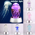 Hot Sale Creative Jellyfish Model 3D LED Night Light  Crystal Glass Lamp  Home Decoration Gift for Girl kids