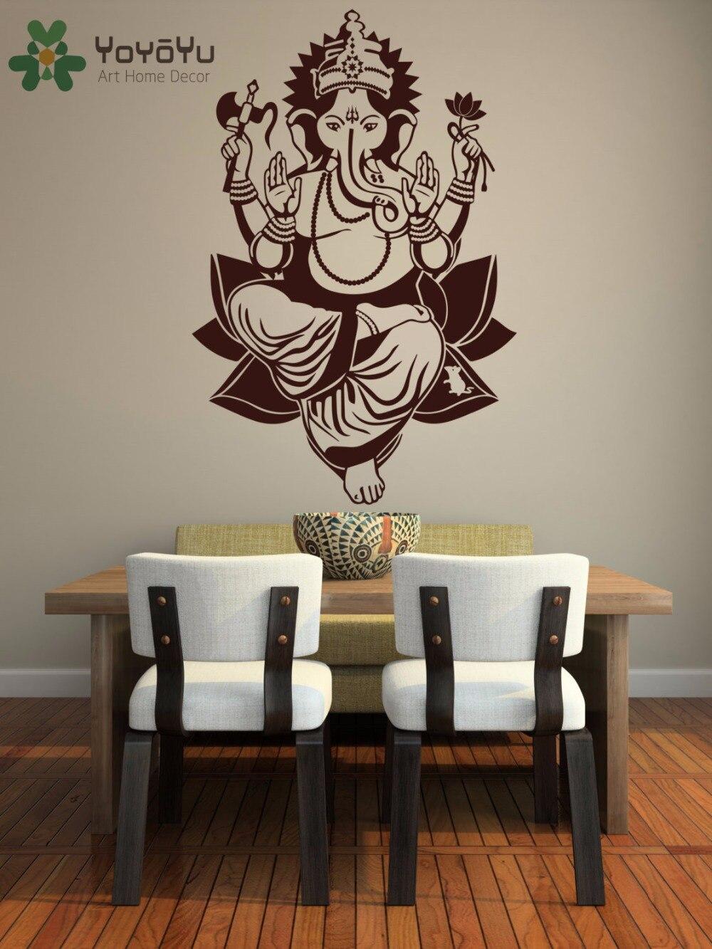 Humor New Ganesha Elephant Buddha Mandala Yoga Wall Stickers Diy Home Decor Vinyl Wall Decals For Living Room Pvc Waterproof Removable Wall Stickers
