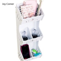 Joy Corner Shelf Pen Holder Pencil Stationery Accesorios De Escritorio Y Organizador Oficina Office School Supplies