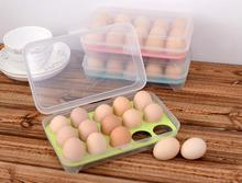 1pcs Big size Plastic Egg Holder Storage Box anti collision Portable Egg Container Carrier Case