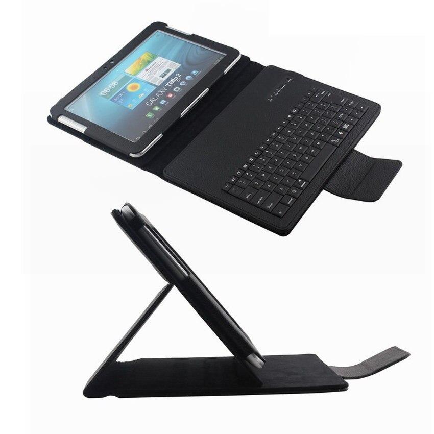 Bluetooth brezžična tipkovnica PU usnjena prevleka za tablični računalnik za Samsung Galaxy Note 10.1 '' N8000 / N8010 angleški ruski jezik