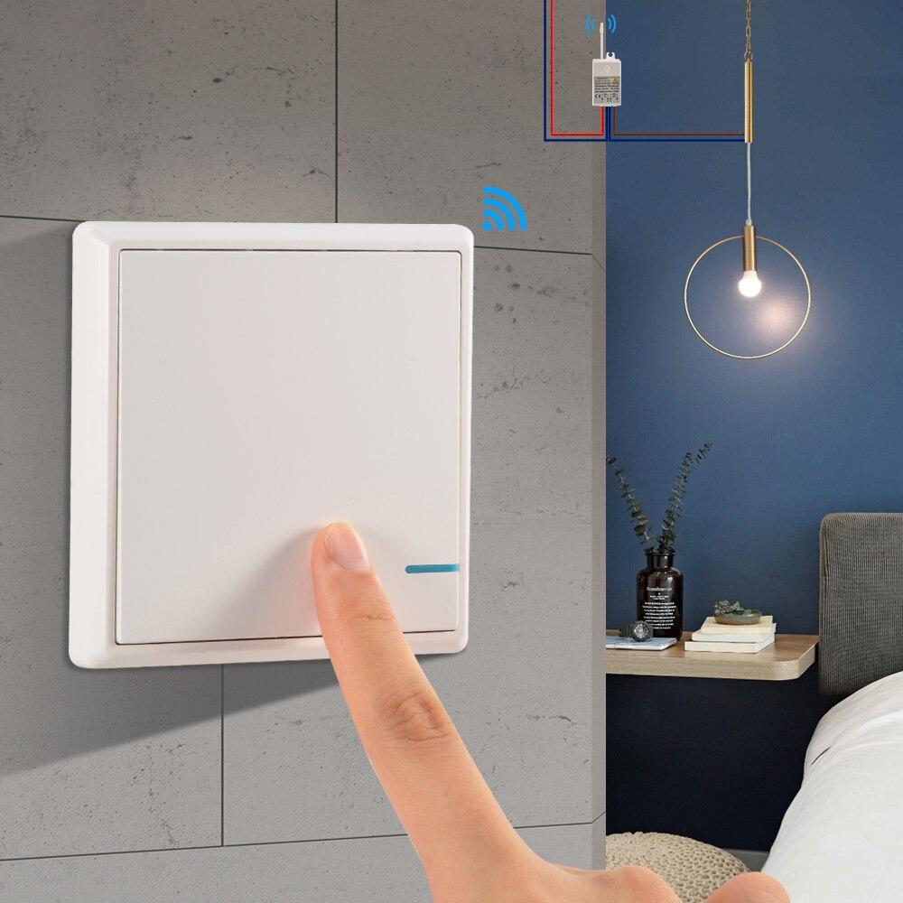 Impermeable sin hilos de interruptor de la luz de Control remoto interruptores de luz-No cableado rápido crear Control remoto lámparas de techo bombillas LED