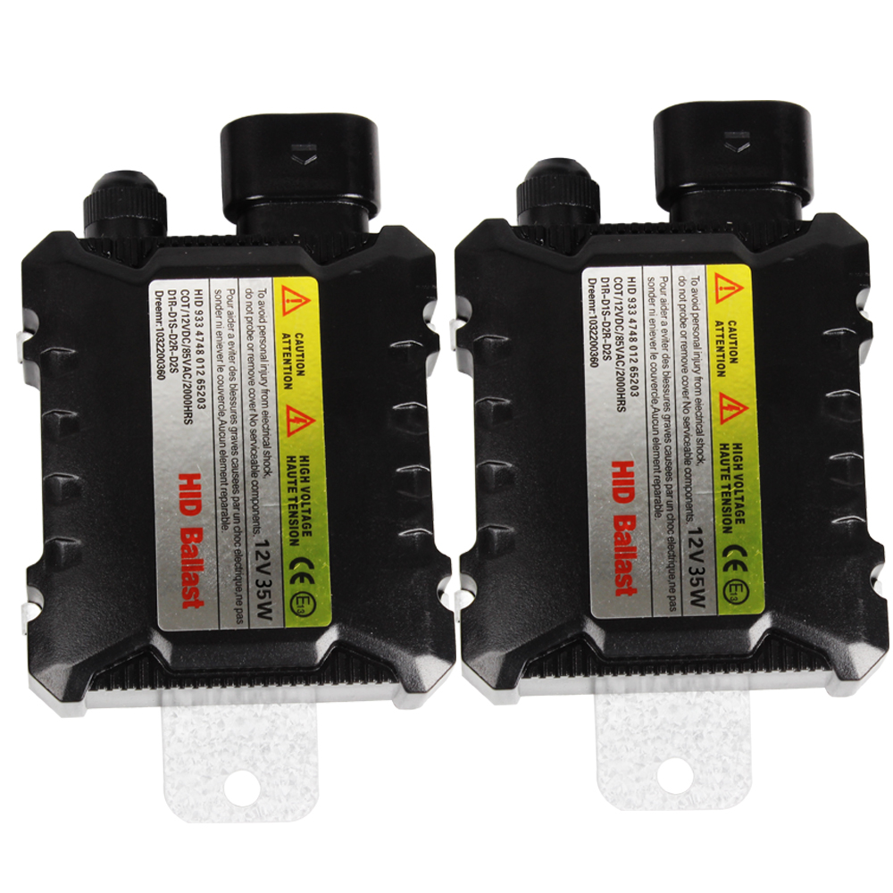 1 Pair Car Headlight Digital Slim Ballast DC 12V H1 H3 H4 H7 H11 Xenon HID Ballast 35W Ignitor HID Replacement #iCarmo universal slim replacement 35w car hid ballast dc 9 16v