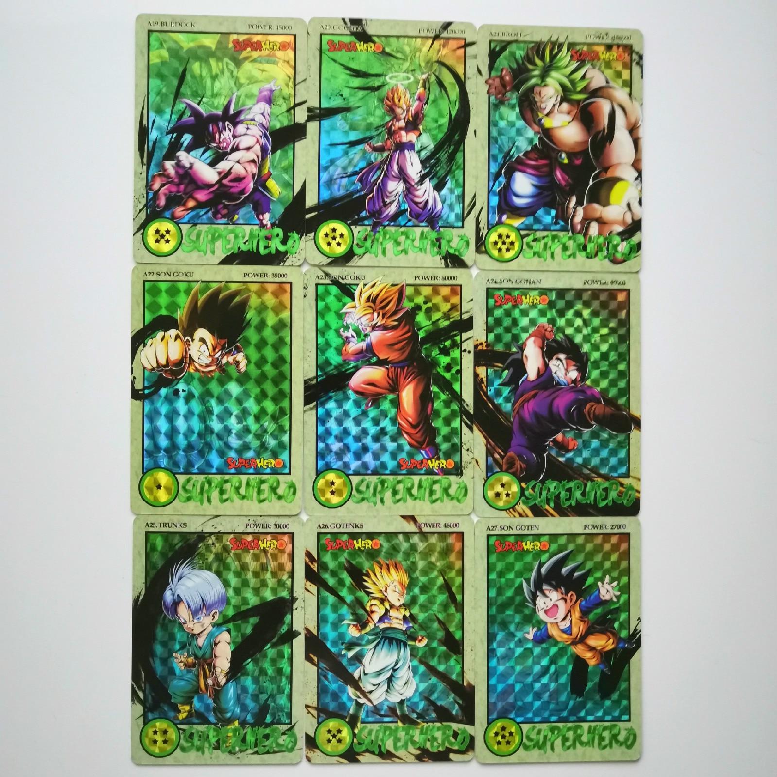 36pcs/set Super Dragon Ball Z Ink Relief Heroes Battle Card Ultra Instinct Goku Vegeta Super Game Collection Cards