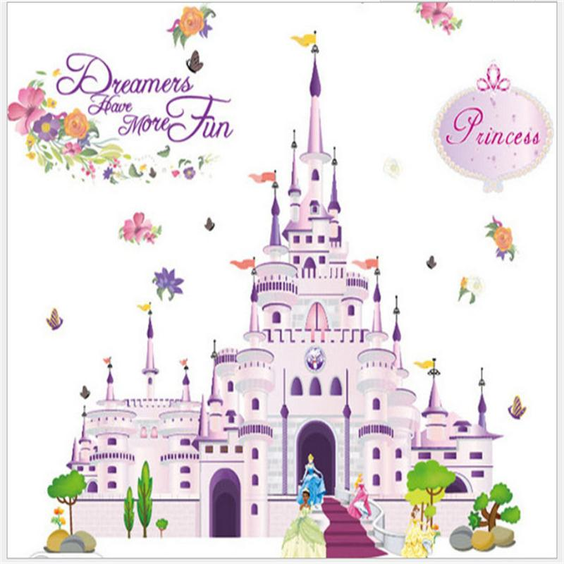 Princess Wall Stickers Girl children kids bedroom home decor decorative decals sticker home decoration