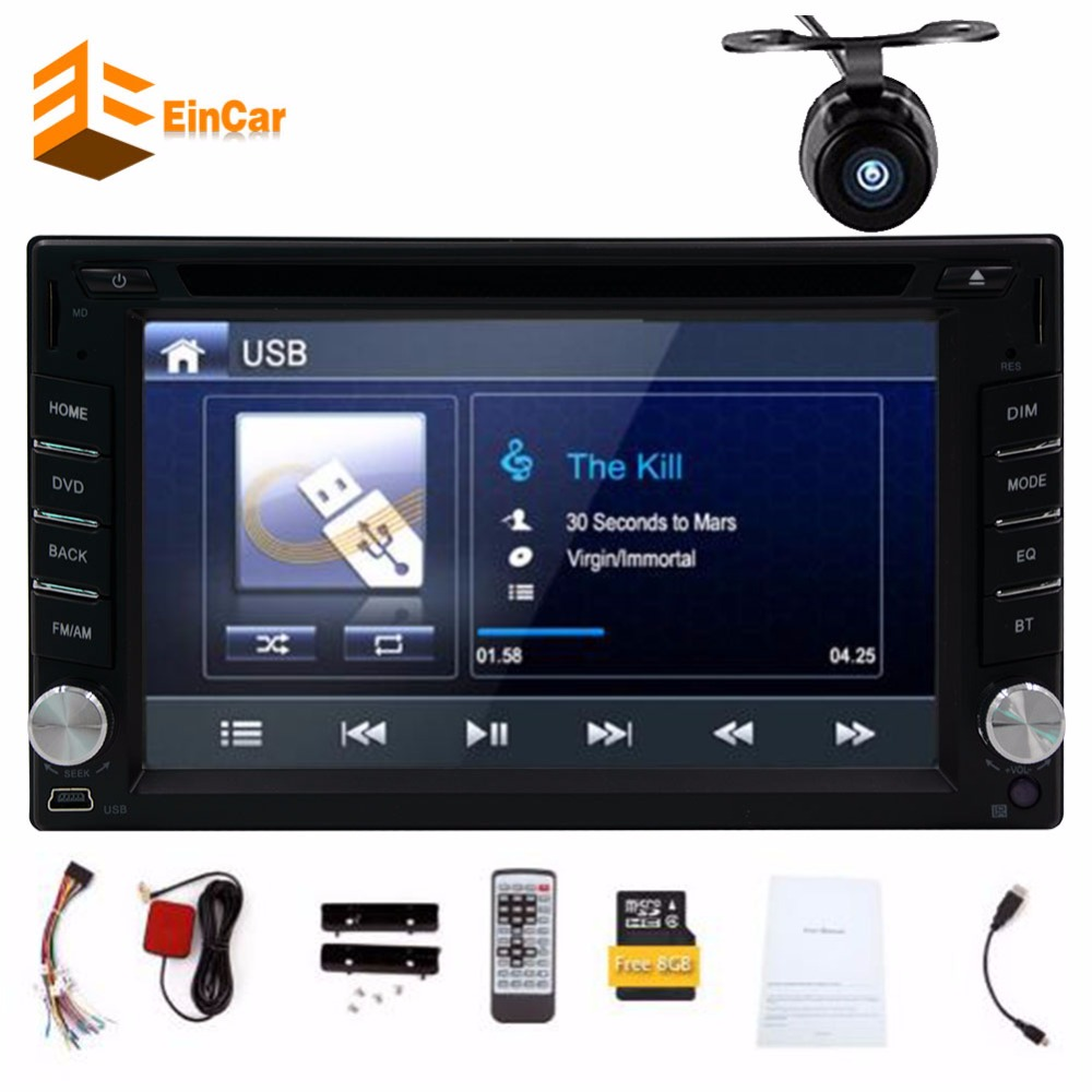 Electronic Double 2 Din Car DVD Player Auto Radio GPS In Dash Car PC Stereo support steering wheel+Free two 2din gps Map camera liislee 2 din plastic frame panel for alfa romeo giulietta 940 2010 2016 aftermarket radio stereo dvd gps navi installation