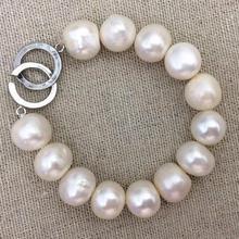 Большой жемчужный браслет, 10-14 мм жемчужные свадебные украшения, день рождения, любовь, День матери, счастье, браслет из больших жемчужин