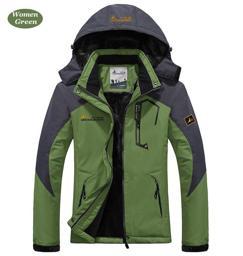 UNCO&BOROR winter jackets men women`s outwear fleece thick warm cotton down coat waterproof windproof parka men brand clothing 19