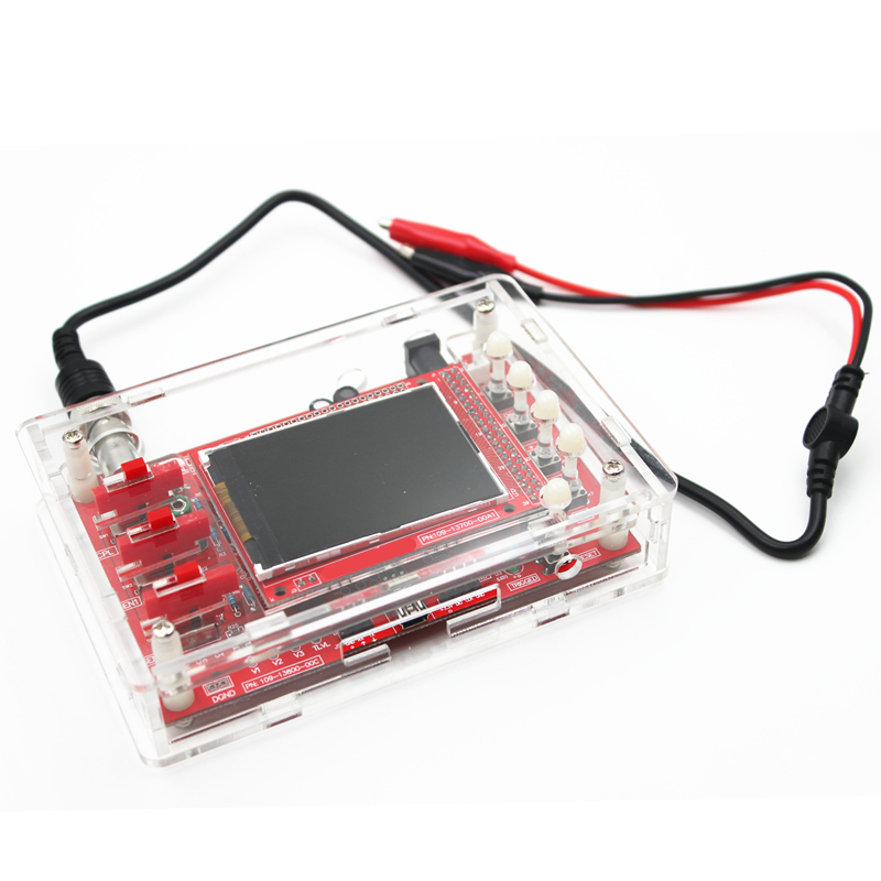 Soldered DSO138 2.4 TFT Handheld Pocket-size Digital Oscilloscope Kit SMD Soldered + Acrylic DIY Case Cover Shell for DSO138