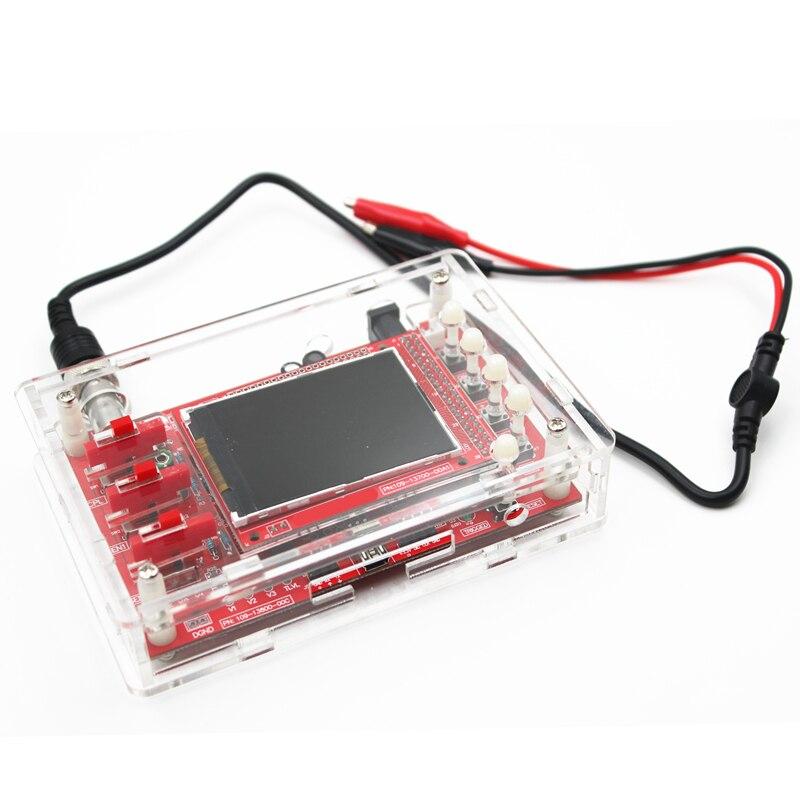 Soudé DSO138 2.4 TFT De Poche Pocket-taille Numérique Oscilloscope Kit SMD Soudé + Acrylique Couverture de Cas De DIY Shell pour DSO138
