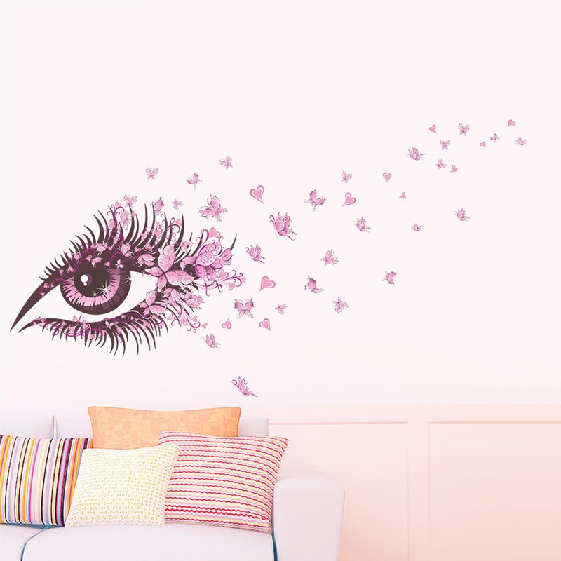 HTB1GwgvOVXXXXaVXFXXq6xXFXXXS - Charming Romantic Fairy Girl Wall Sticker For Kids Rooms Flower butterfly LOVE heart