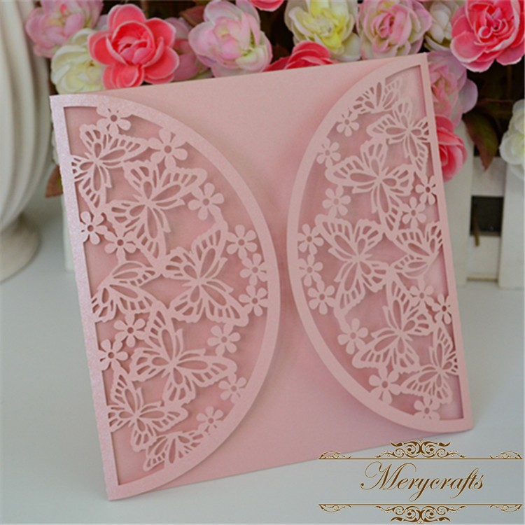 Butterfly design wedding invitations card 2016 decorative items ...