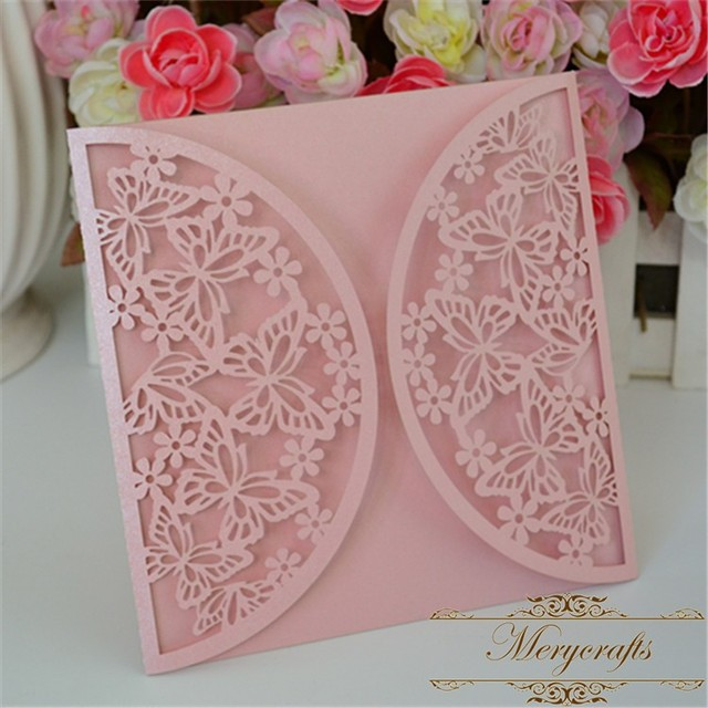 Butterfly design wedding invitations card 2016 decorative items for