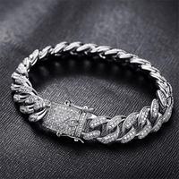 Cuban chain Hip hop style Bracelets Cuff Wristband CZ Zircon Men's Bracelets Bracelet Bangles Jewelry accessories