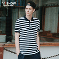 VIISHOW Striped Polo Shirt Men Brand Casual Men Shirt Business Polo Men Turn Down Collar Short Sleeve Polo Men PD05962