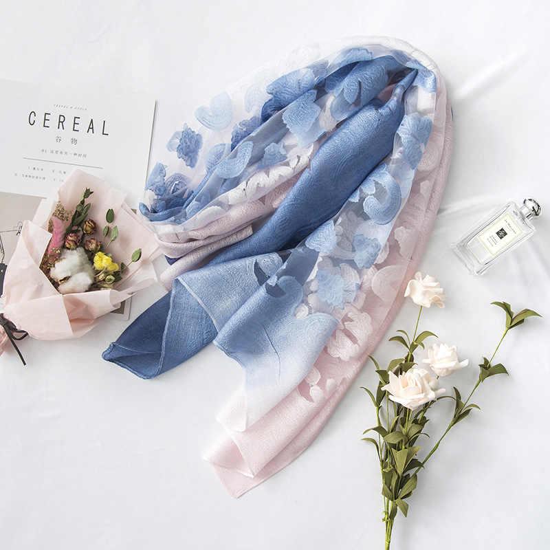 Vendita Calda Bella Ombra Del Merletto Sciarpe Scialli Hijab Musulmano Donna Sciarpa/Sciarpe di Pashmina Bandana Sciarpa di Seta di Trasporto Libero