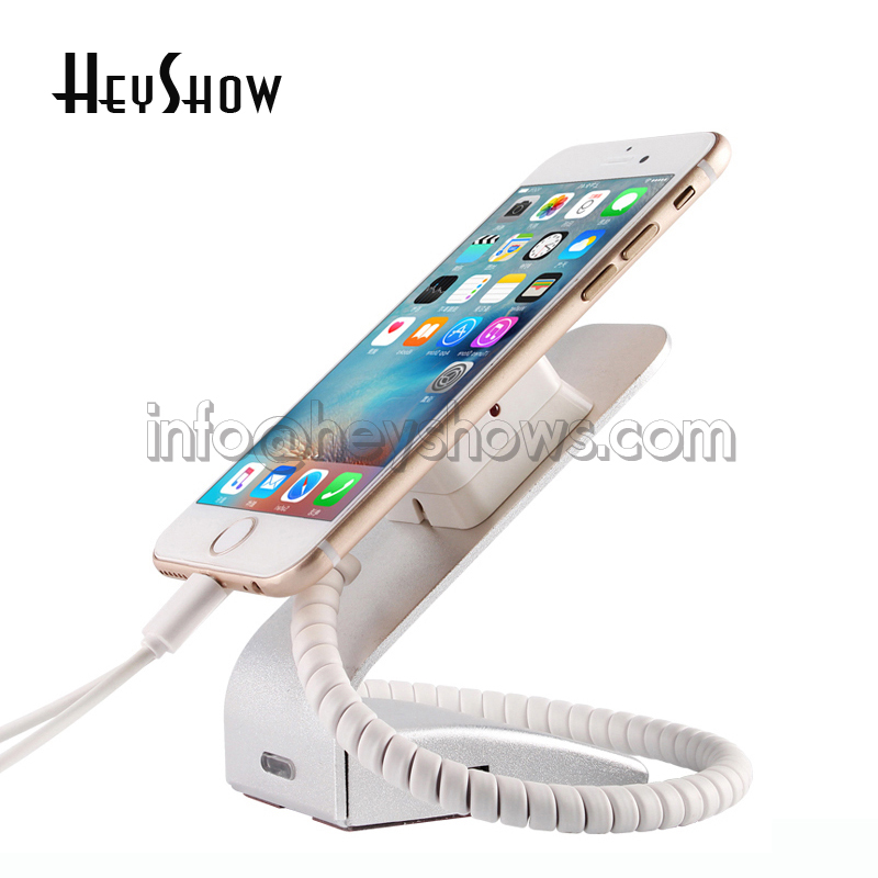 5xUniversal Mobile Phone Burglar Alarm System Cell Phone Security Stand For Retail Shop Anti-theft Display Device Can Charging