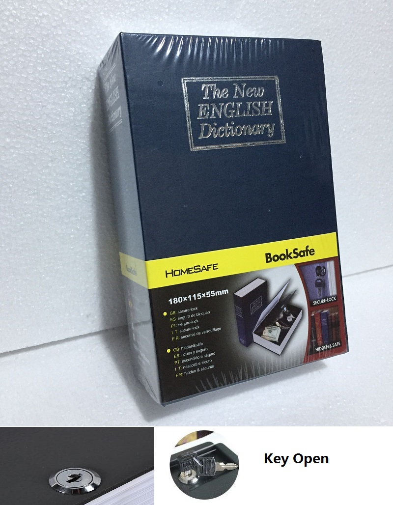 18cm*11.5cm*5.5cm English BooksSafes Dictionary Creative Safes Box Metal Savings Bank 18cm 11 5cm 5 5cm password bookssafes creative safes box simulation savings bank