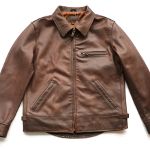 VANLED shipping.super cow leather jacket.american style.genuine jackets.brown classic