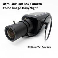Ультра низкой освещенности коробка Камера 2.8-12 мм объектив 700TVL супер низкой освещенности Box CCTV Камера Цвет iamge день /ночь Высокая чувствитель...