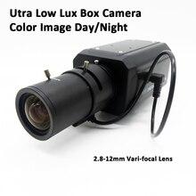 Ultra Low Lux Box Camera 2.8-12mm Lens 700TVL Super Low light Box CCTV Camera Color iamge Day/Night High Sensitivity 0.00001 lux