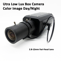 Ultra Low Lux Box Camera 2.8 12mm Lens 700TVL Super Low light Box CCTV Camera Color iamge Day/Night High Sensitivity 0.00001 lux