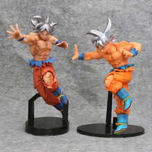 Anime Dragon Ball Super Saiyan Goku action figure sliver cabelo Scultures Big Especial ultra Colecionáveis Dragonball DBZ modelo de brinquedo(China)