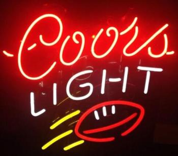 Coors Light Rugby Glass Neon Light Sign