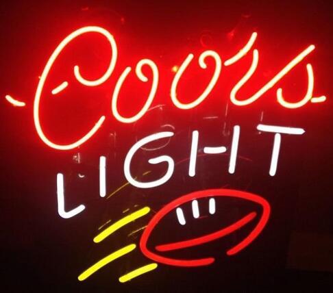Enseigne lumineuse en verre de Rugby Coors