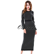 Bodycon font b Dress b font 2016 New Fashion Beautiful Long Sleeve Womens Midi font b