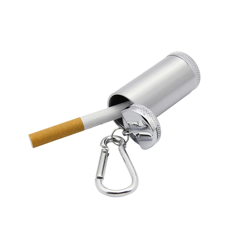 Portable Mini Pocket Ashtray Keychain Outdoor Travel Cigaret
