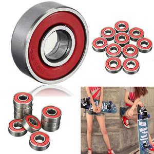 Image 4 - 10Pcs 608ZZ Rolling Skateboard Longboard Wheel Roller Skate Bearings Roller Skateboard Accessories ABEC 7 Set