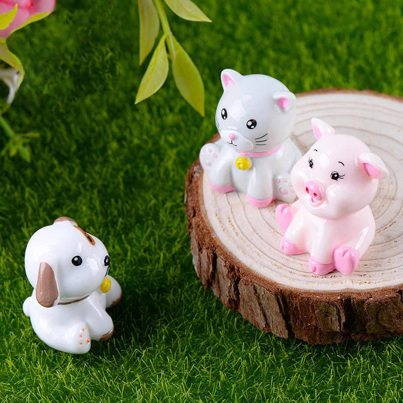 1 cái Lợn Mèo Gấu Chó Thu Nhỏ Bức Tượng phim hoạt hình Con Heo Đất Con Số mô hình động vật đồ chơi Vật Nuôi TỰ LÀM Phụ Kiện Búp Bê Nhà đồ chơi trang trí