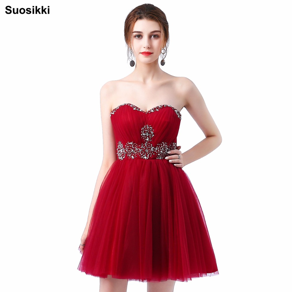 Suosikki 2017 fashion sisters dress short evening dress for Wedding party dress up