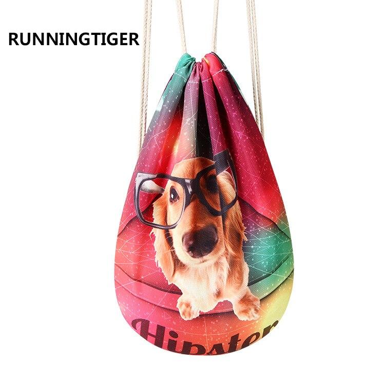 Brilliant Unisex Starry Sky Pet Dog Cat Donuts Pattern Drawstring Bag Lovely Print Softback Backpack Portable School Travel Shoulder Bags