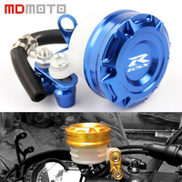 MDMOTO Motorcycle Front Brake Fluid Reservoir Clutch Tank Oil Cup Cover For For SUZUKI GSF GSX
