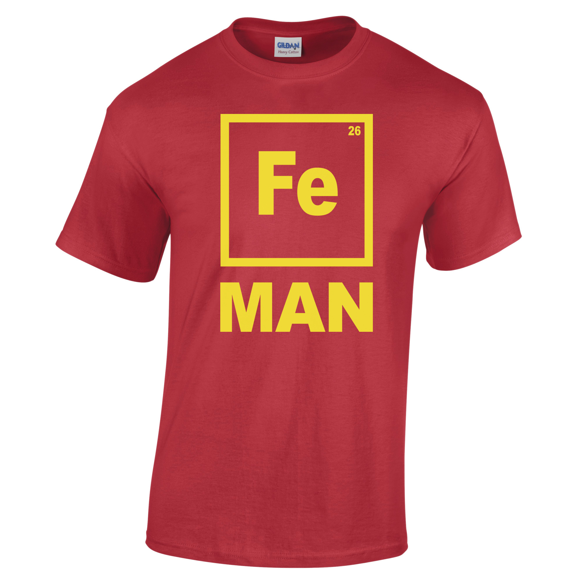 Iron man t shirt funny chemistry shirt periodic table for Iron man shirt for men